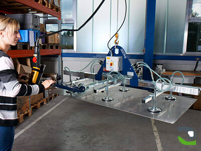Suction cup lifting device - Adjustable lifting device for sandwich panels - Handling device