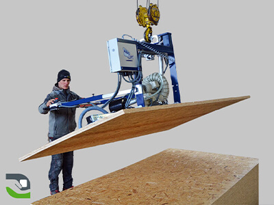 Suction cup lifting device for porous loads, wooden panels - Vacuum handling