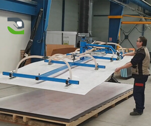 Handling and tilting plastic panels