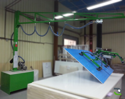 Handling of panels: Production line