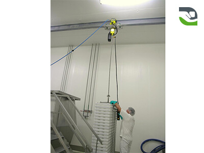 JD Neuhaus hoist for handling from 250 kg to 100 tonnes depending on the model